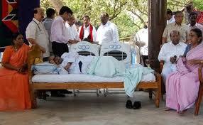 DMK leader Kalaignar karunanidhi fasting