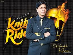 Shahrukh khan with knight riders promotion